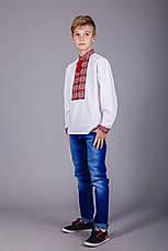 Вышитая рубашка на мальчика красный узор , фото 2