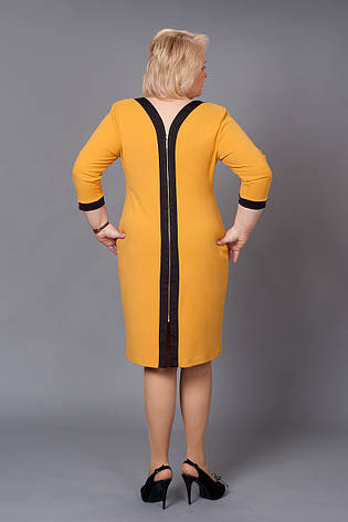 Платье с отделкой и замком на груди большие размеры, фото 2
