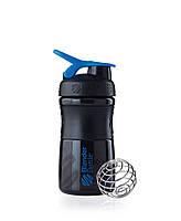Бутылка спортивная пластиковая SPORTMIXER шейкер с стальным шариком