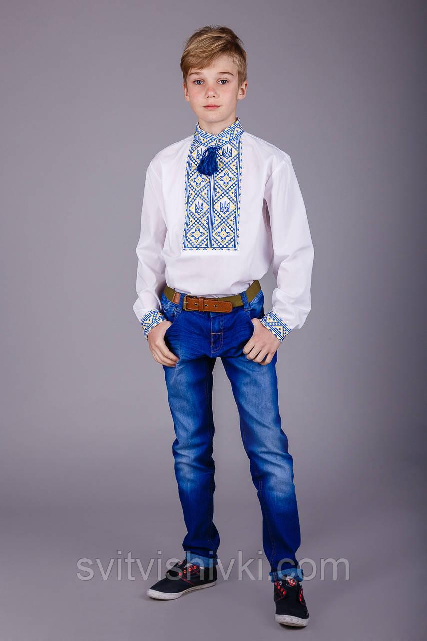 Хлопчача сорочка з українською символікою