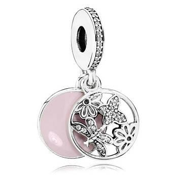 Подвеска из серебра «Цветочное настроение» в стиле Pandora