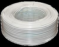 Телефонный кабель 4 жильный 28awg CCS 100метров в бухте серый