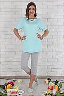 Летние лосины для беременных Mia new серый меланж, фото 1