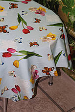 Скатерть - клеёнка  на стол Летние бабочки, фото 2