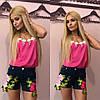 Джинсовые шорты с вышитыми цветами, фото 2