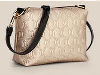 Сумка женская золотого цвета, сумочка с плечевым ремнем 22*17 см