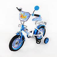 Велосипед TILLY Авиатор 12 T-21222 white + blue, детский велосипед