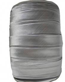 Косая бейка (рулочка) из парчи Серебро