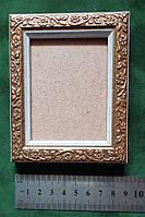 Рамка для картин, икон, фотографий 6*7 (золото с белым кантом)
