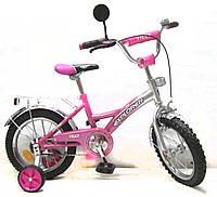 Велосипед EXPLORER 14 T-21411 pink + silver, детский велосипед