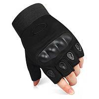 Тактические перчатки Oakley (Беспалый). - Black M,L,XL