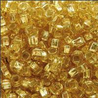 Чешский бисер Preciosa 462- 17020к, светлое золото, блестящий