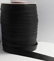 Косая бейка (рулочка) из кожзама Черная