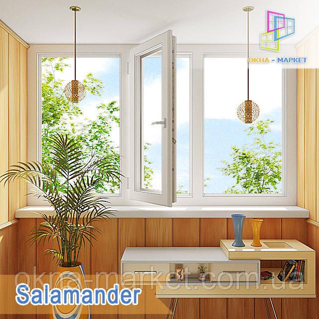Лоджия в профильной системе Salamander копания