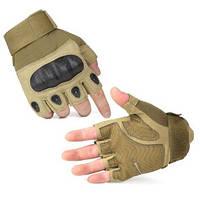 Тактические перчатки Oakley (Беспалый). - Beige M,L,XL, фото 1