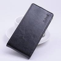 Кожаный чехол флип для Lenovo Lemon 3 чёрный