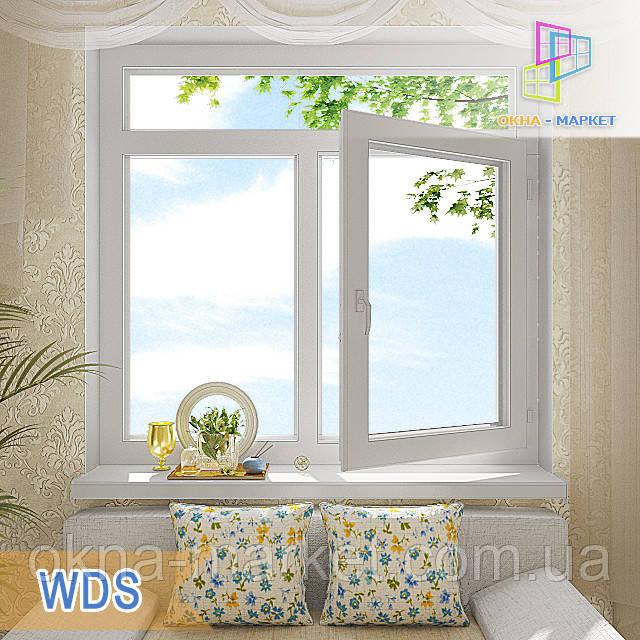 Пластиковое окно с фрамугой WDS цена