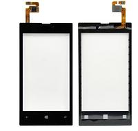 Сенсорный экран для мобильного телефона Nokia Lumia 520 Black