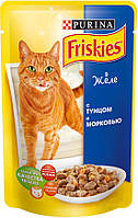 Консервы для кошек Friskies (Фрискас) с тунцом и морковью, 100 гр