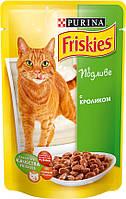 Консервы для кошек Friskies (Фрискас) с кроликом, 100 гр