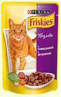 Консервы для кошек Friskies (Фрискас) с говядиной и ягненком, 100 г
