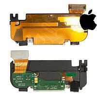 Шлейф для Apple iPhone 3G, коннектора зарядки, антенны, с компонентами, полный комплект, черный (оригинал)