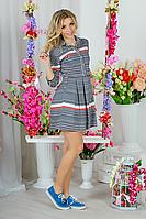 Модное летнее платье в полоску