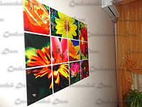Декоративная стеклянная панель из отдельных сегментов. Стеклянная мозаика. Безопасное стекло. Обработка стекла