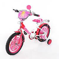 Велосипед TILLY Балеринка 16 T-21622 white + crimson, детский велосипед