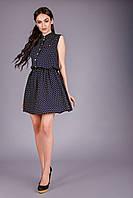 Модное платье из хлопковой ткани (штапель)
