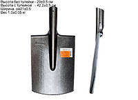 Лопата штыковая прямоугольная МАТиК из рельсовой стали (ЛШП)
