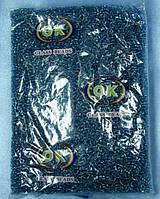 Бисер средний (Китай) 450гр.синий с прокрашеной серединкой BIS-beads-bk450-70 /06-1