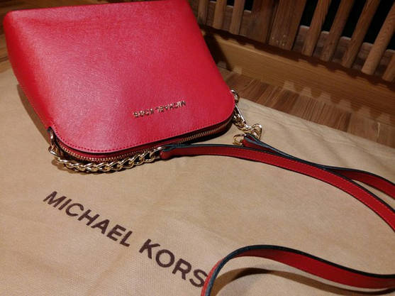 Сумочка Michael Kors Cindy красная, фото 3