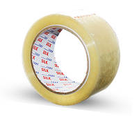 Скотч упаковочный прозрачный Silk 45 мм x 130 м x 38 мкм