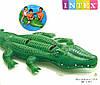 Детский надувной плотик Крокодил Двухместный Intex 58562
