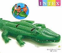 Детский надувной плотик Крокодил Двухместный Intex 58562 , фото 1