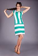 Платье полуприлегающего силуэта в широкую полоску
