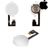 Шлейф для Apple iPhone 4, кнопки меню, полный комплект, белый, оригинал