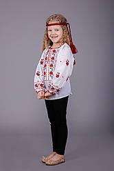 Вишита блуза для дівчинки з оригінальним візерунком