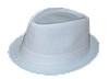 Шляпа челентанка лен белый