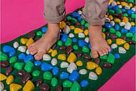 Коврик массажный с цветными камнями 200 х 40 см MS-1269