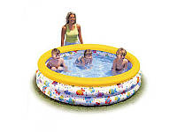 Детский бассейн 56440 разноцветный всплеск, 3 кольца, 481 л