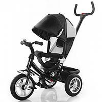 Велосипед трехколесный Trike  черный, на большом надувном колесе