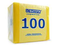 Салфетка бумажная, желтая 100шт