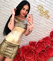 Блестящее платье с утяжкой