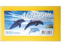 """Губка банная Дельфин """" Блеск """", 1 шт"""