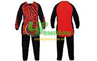 Вратарская форма (кофта с длинным рукавом + штаны) CO_0233_R подростковая красно- черная