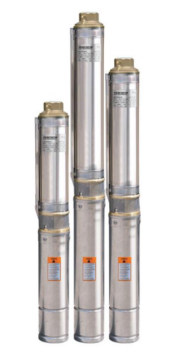 Погружной скважинный (глубинный насос) «Насосы+» БЦП 1,8–60У* + стальной трос подвеса