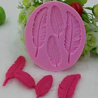 Силиконовая форма для мастики  перо перья для выпечки для лепки торта молд для мыла