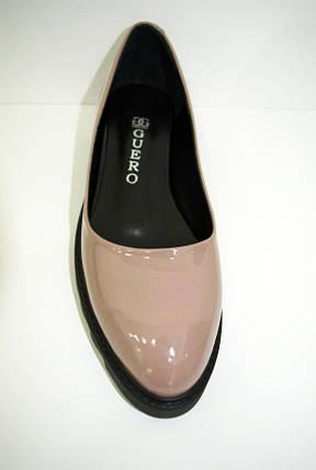Туфли лакированные бежевые Guero 658 , фото 2